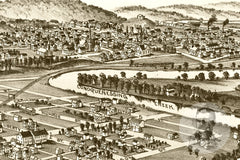 Harmony, PA Historical Map - 1901
