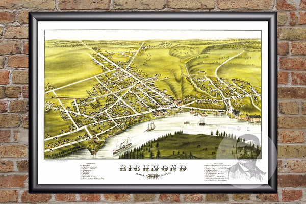 Richmond, ME Historical Map - 1878