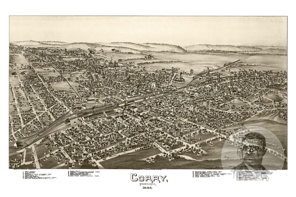 Corry, PA Historical Map - 1895 - Ted's Vintage Maps
