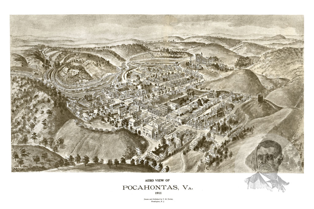Pocahontas, VA Historical Map - 1911