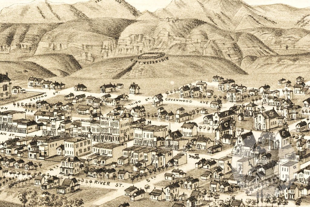 Canon City, CO Historical Map - 1882 - Ted's Vintage Maps