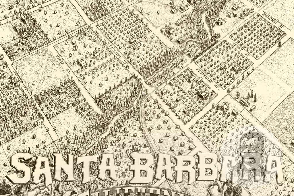 Santa Barbara, CA Historical Map - 1898