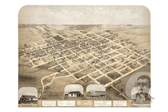 Pella, IA Historical Map - 1869