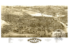Boston, MA Historical Map - 1880