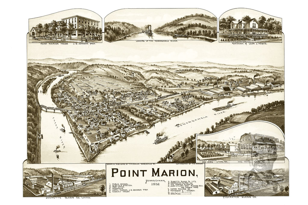 Point Marion, PA Historical Map - 1902