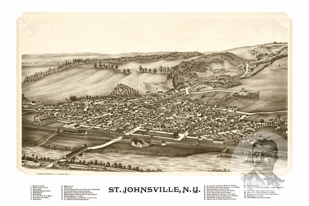St. Johnsville, NY Historical Map - 1890