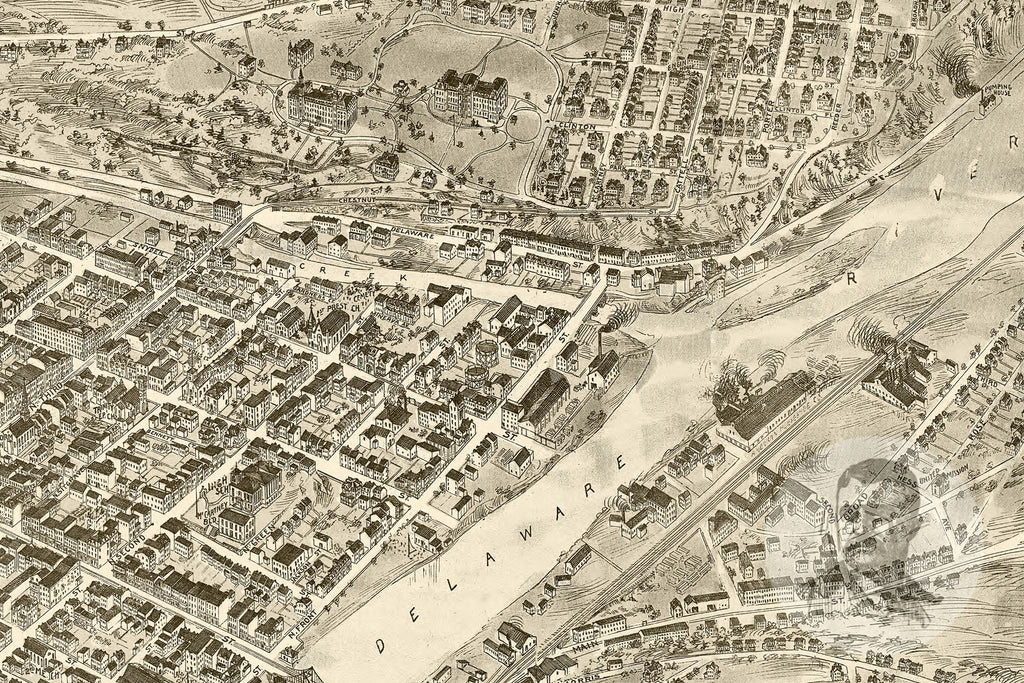 Easton, PA Historical Map - 1900 - Ted's Vintage Maps