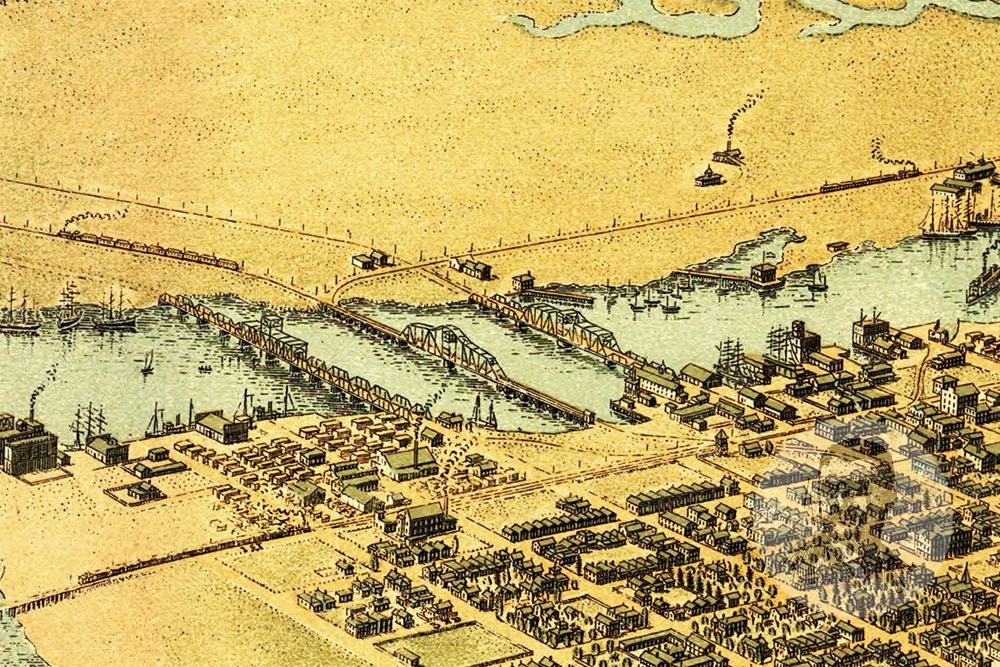 Oakland, CA Historical Map - 1900