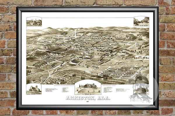 Anniston, AL Historical Map - 1887