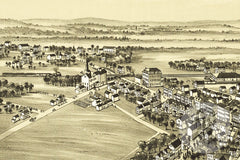 Macungie, PA Historical Map - 1893