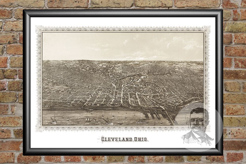 Cleveland, OH Historical Map - 1887 - Ted's Vintage Maps