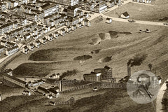 Shenandoah, PA Historical Map - 1889