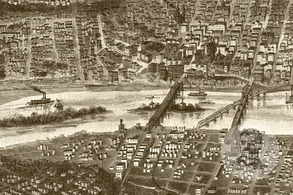 St. Paul, MN Historical Map - 1887