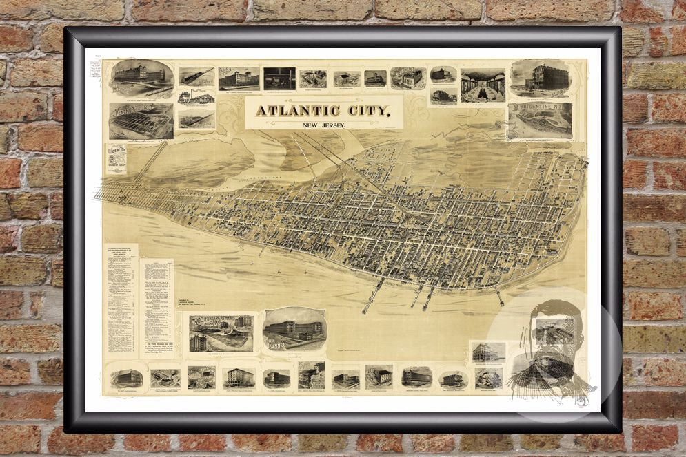 Atlantic City, NJ Historical Map - 1900