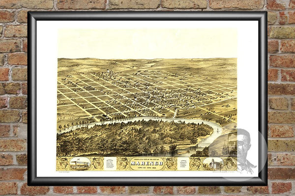 Marengo, IA Historical Map - 1868
