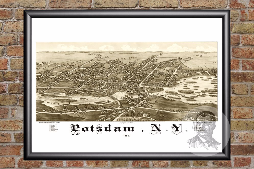 Potsdam, NY Historical Map - 1885