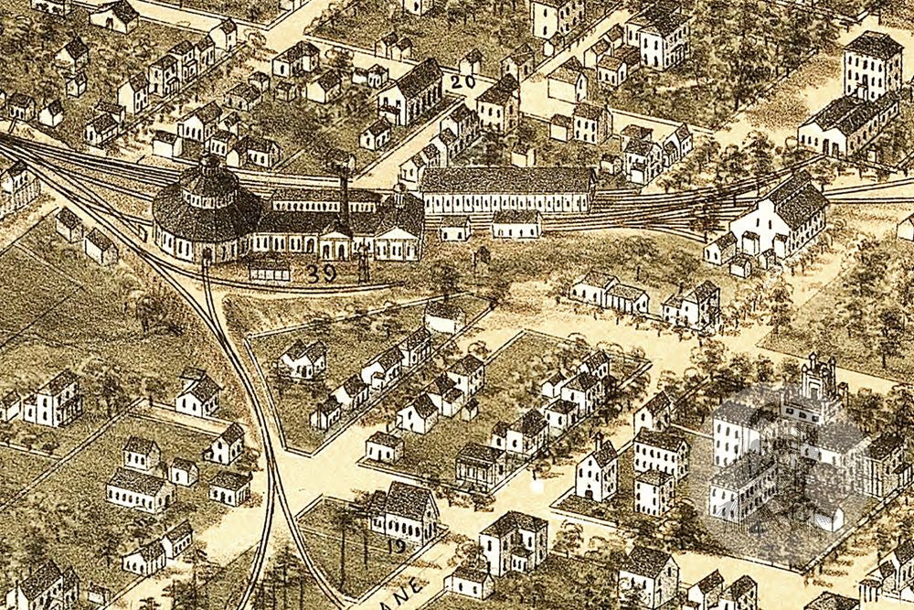 Raleigh, NC Historical Map - 1872