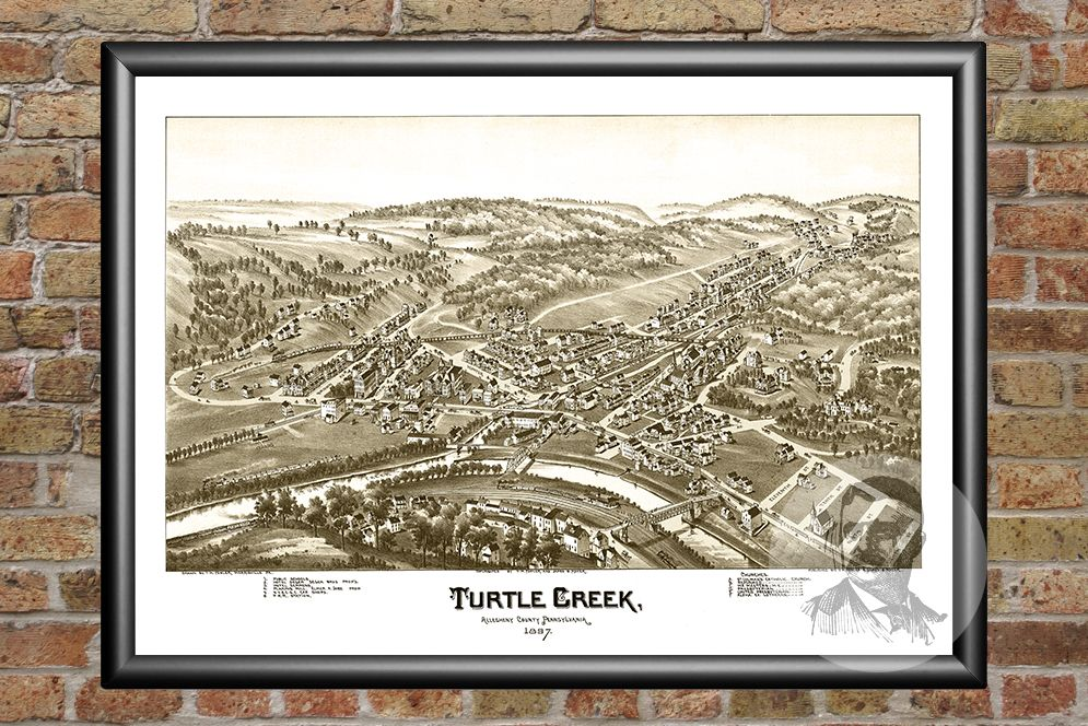 Turtle Creek, PA Historical Map - 1897