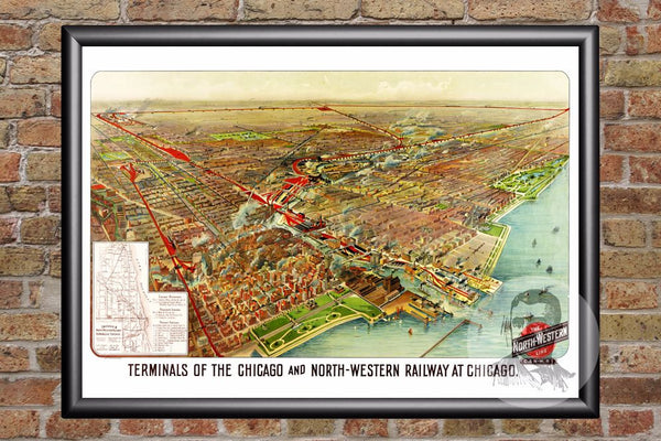 Chicago, IL Historical Map - 1902