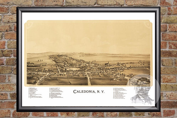 Caledonia, NY Historical Map - 1892