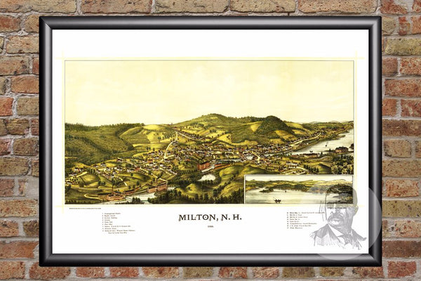 Milton, NH Historical Map - 1888