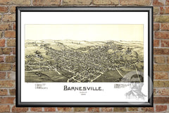 Barnesville, OH Historical Map - 1899