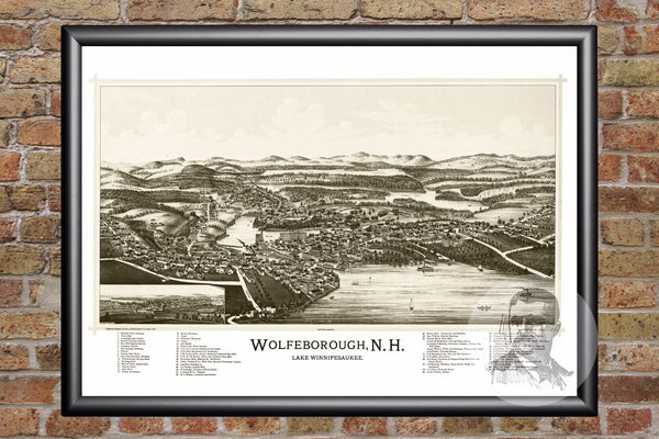 Wolfeborough, NH Historical Map - 1889