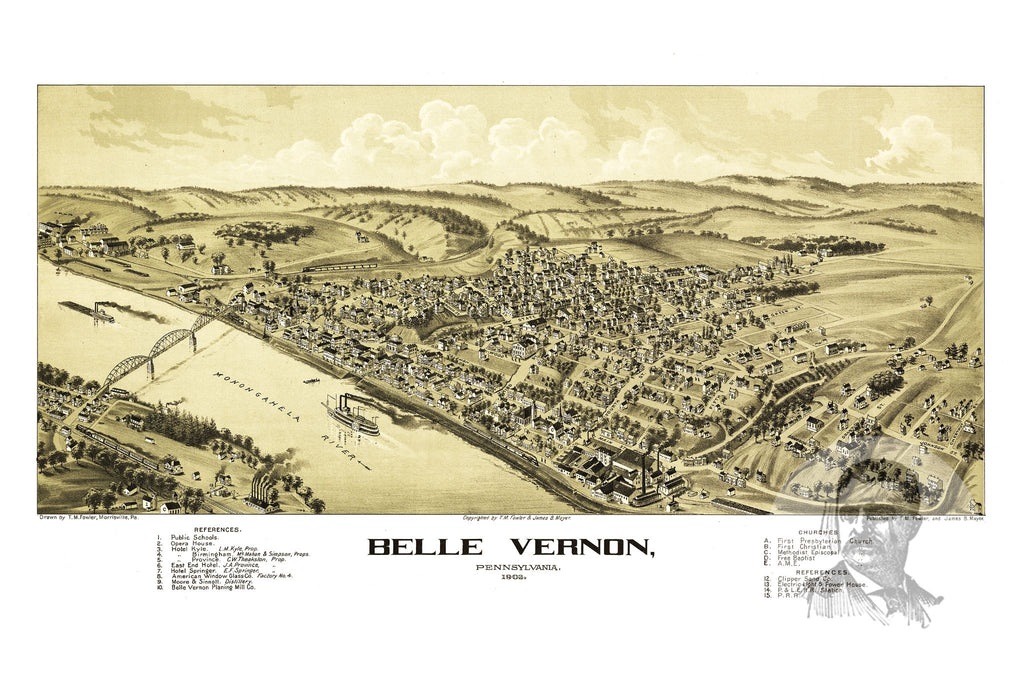 Belle Vernon, PA Historical Map - 1902 - Ted's Vintage Maps
