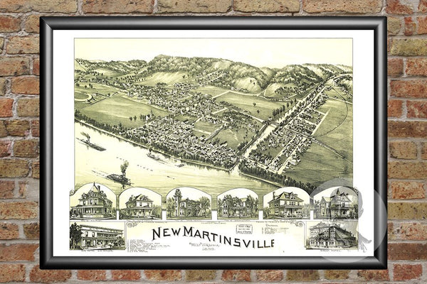 New Martinsville, WV Historical Map - 1899