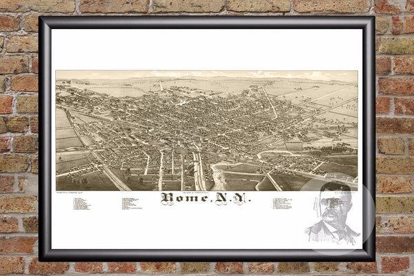 Rome, NY Historical Map - 1886