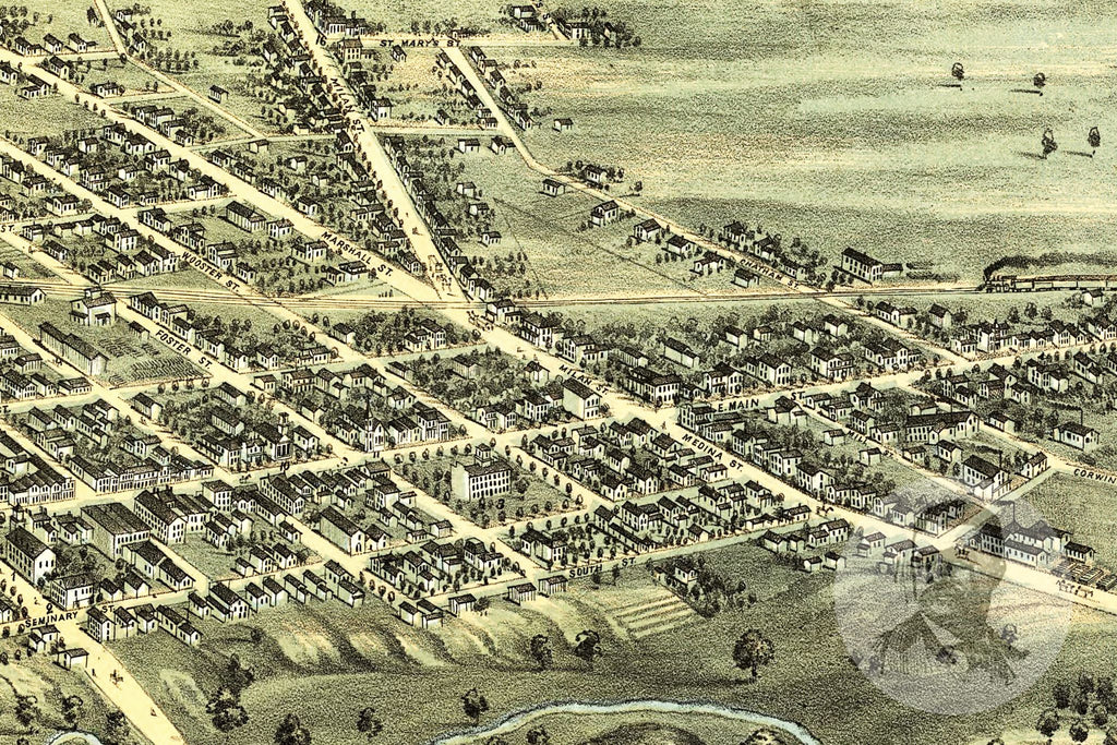 Norwalk, OH Historical Map - 1870