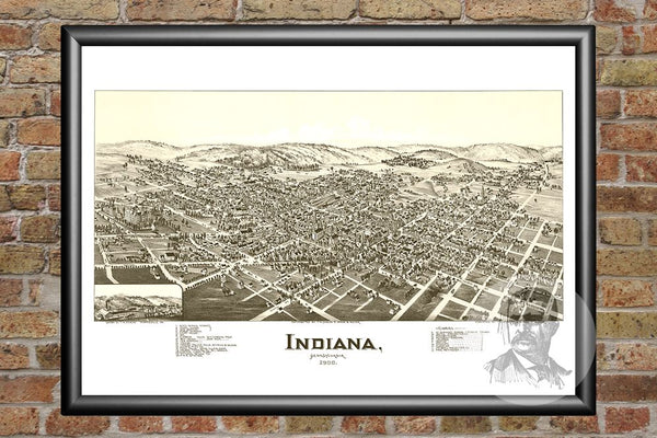 Indiana, PA Historical Map - 1900