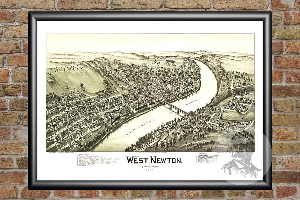 West Newton, PA Historical Map - 1900