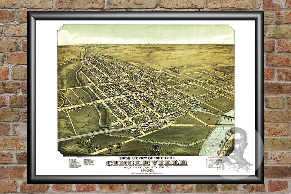 Circleville, OH Historical Map - 1876 - Ted's Vintage Maps
