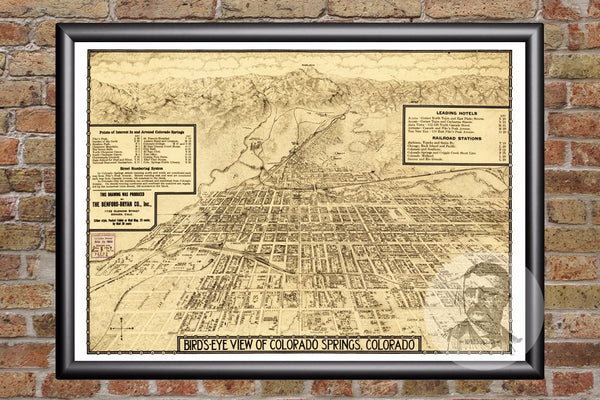 Colorado Springs, CO Historical Map - 1909