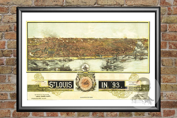 St. Louis, MO Historical Map - 1893