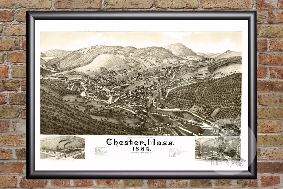 Chester, MA Historical Map - 1885