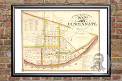 Cincinnati, OH Historical Map - 1841