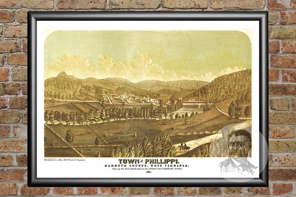 Phillippi, WV Historical Map - 1861
