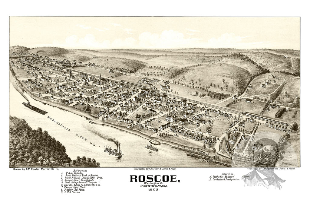 Roscoe, PA Historical Map - 1902
