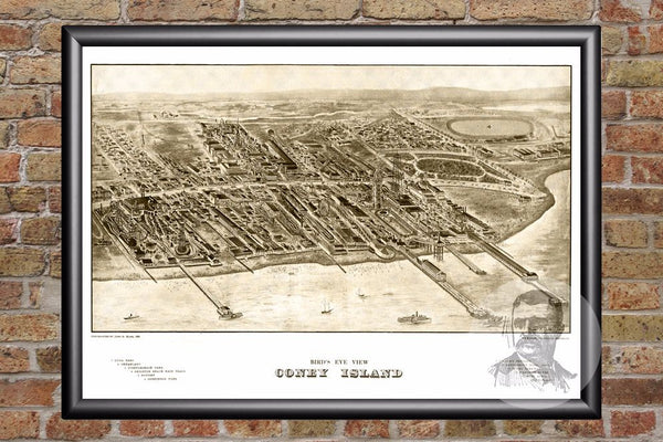 Coney Island, NY Historical Map - 1906