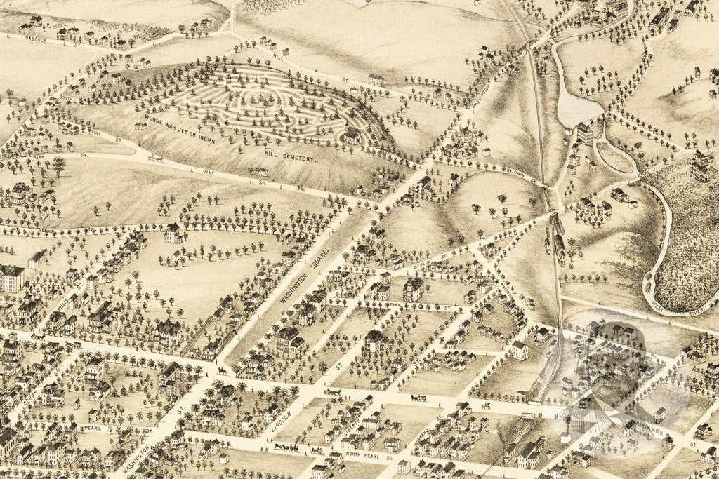 Middletown, CT Historical Map - 1877