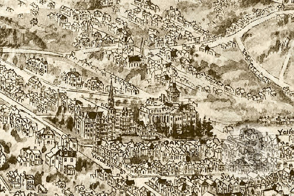 Asheville NC Historical Map 1912 Teds Vintage Art