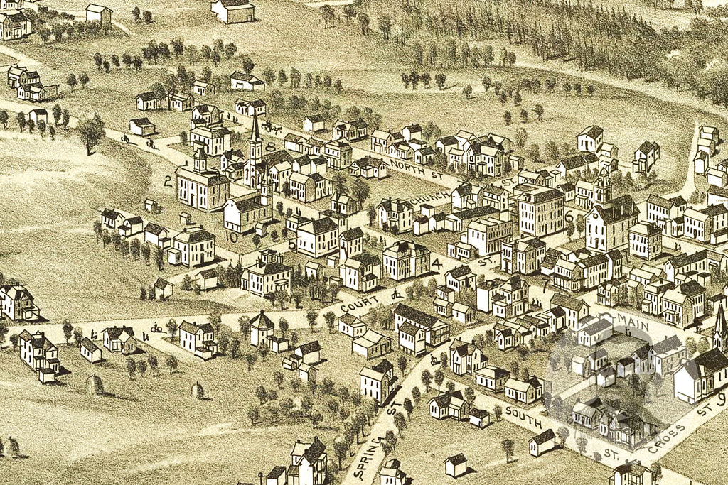 Harrisville, WV Historical Map - 1899 - Ted's Vintage Maps