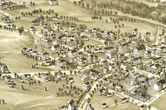 Harrisville, WV Historical Map - 1899