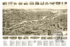 Ansonia, CT Historical Map - 1921