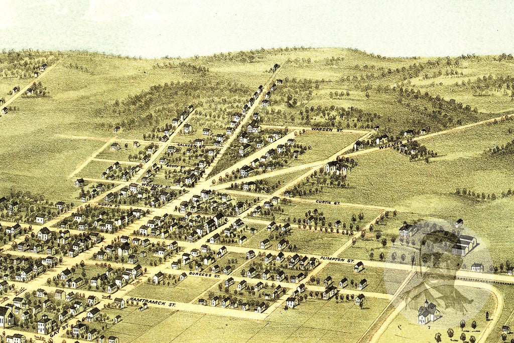 Mount Vernon, OH Historical Map - 1870