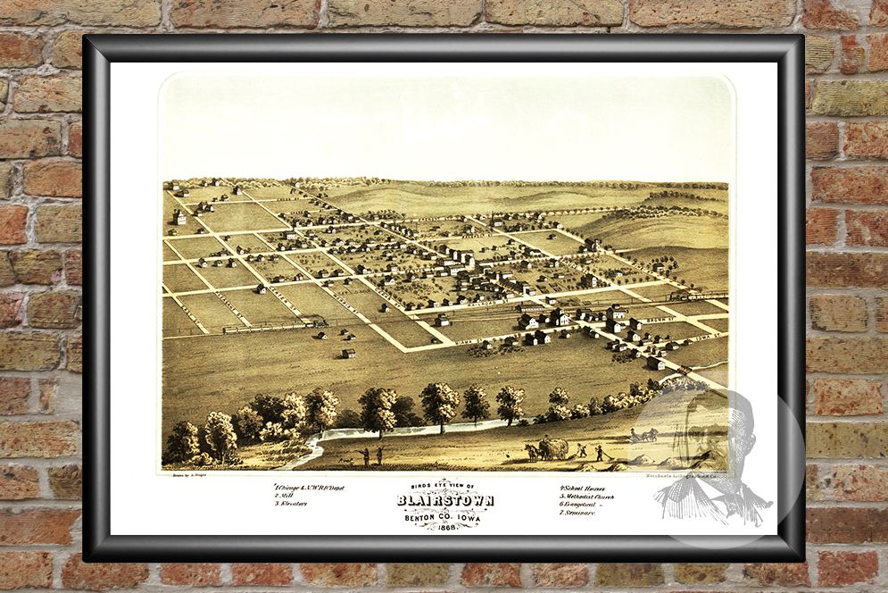 Blairstown, IA Historical Map - 1868