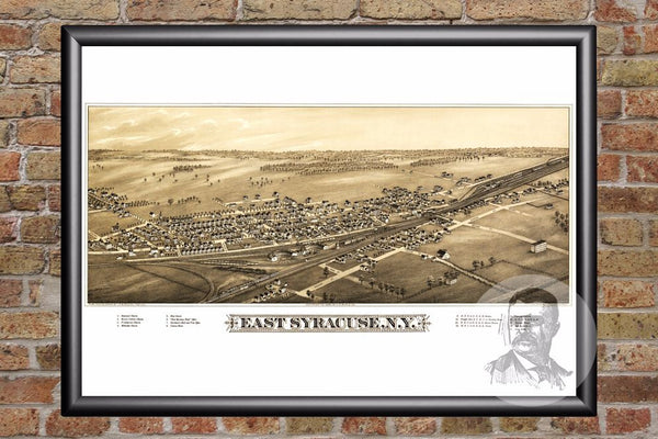 East Syracuse, NY Historical Map - 1885