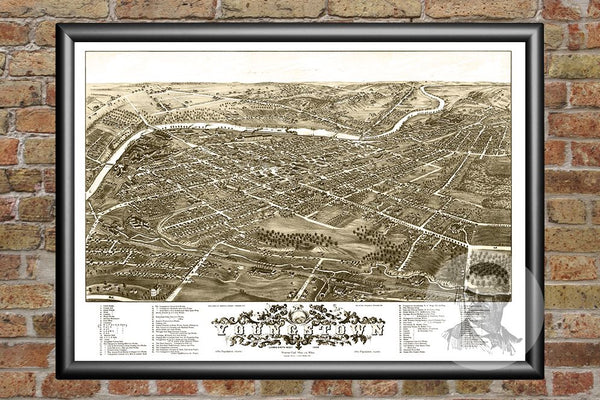 Yougstown, OH Historical Map - 1882